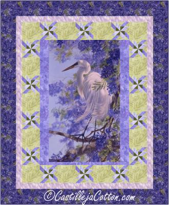 Heron and Flowers Quilt Pattern CJC-54951