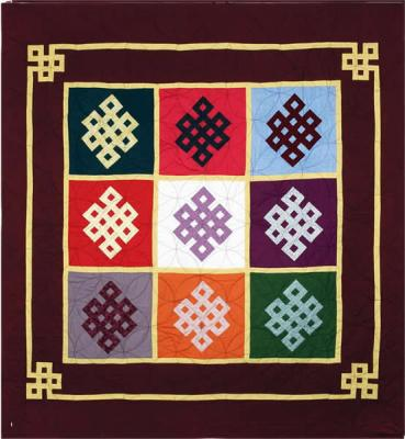 Mongolian Olzii Quilt Pattern DFQ-102