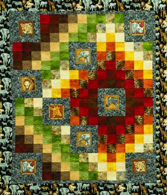 Jungle Nine Patch Quilt Pattern LOB-102