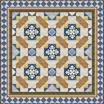 Market Place Mosaic Quilt Pattern MGD-105