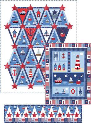 By the Sea Quilt Set Pattern PC-137
