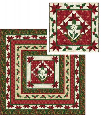 Poinsettia Medallion Quilt Pattern PC-144
