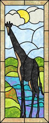Giraffe Stained Glass Quilt Pattern PES-107