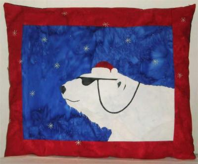 Cool Yule Bear Pillow Pattern PS-909
