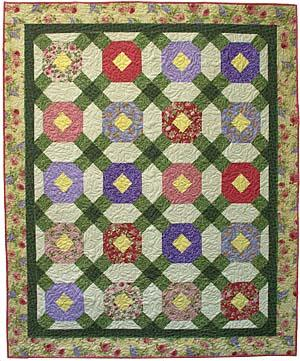 Flowers for Abby Quilt Pattern - Straight to the Point Series QW-13
