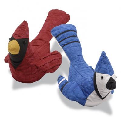 Cardinal And Blue Jay Bird Stuffed Animal Pattern Rqs 208