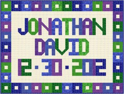 Personalized Baby Messages Wall Hanging Pattern SP-205