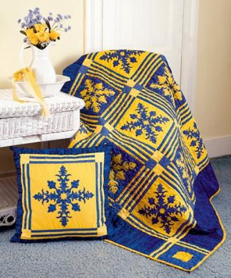 In Praise of Blue & Yellow Quilt Pattern YF-114