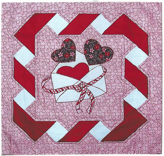 letter for friend be mine wall hanging pattern qbe 119e beginner wall hanging 22828 | qbe 119e