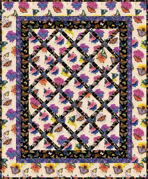 Garden Lattice Straight To The Point Series Quilt Pattern Qw 10