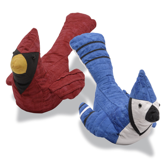 Cardinal And Blue Jay Bird Stuffed Animal Pattern Rqs 208