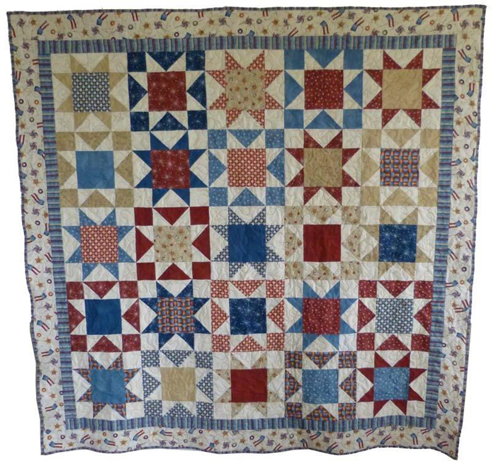Patriotic Stars Quilt Pattern Bl2 124 Advanced Beginner Lap And Throw