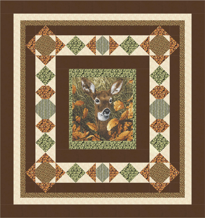 Quilt Patterns Made With Panels : Visiting Northwoods Quilt Pattern BS2-446 (advanced beginner, lap and throw)