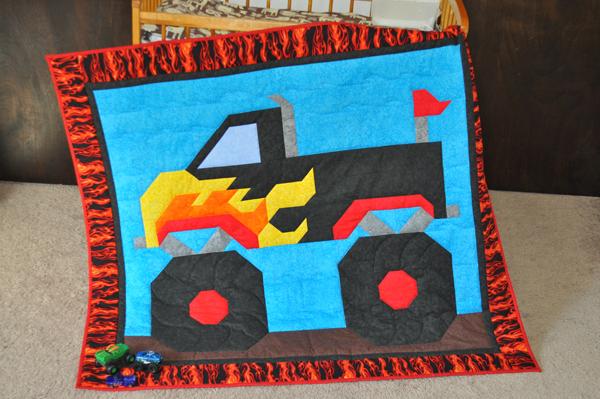 Monster Truck Quilt Pattern Cq 119 Advanced Beginner Wall Hanging
