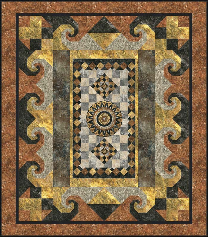 novelty textiles pick a panel quilt pattern gtd 120 intermediate