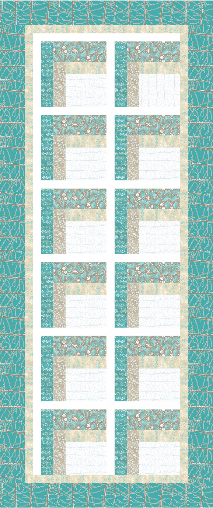 Modern two sided log cabin quilt pattern sew 150 advanced for Modern house quilt pattern