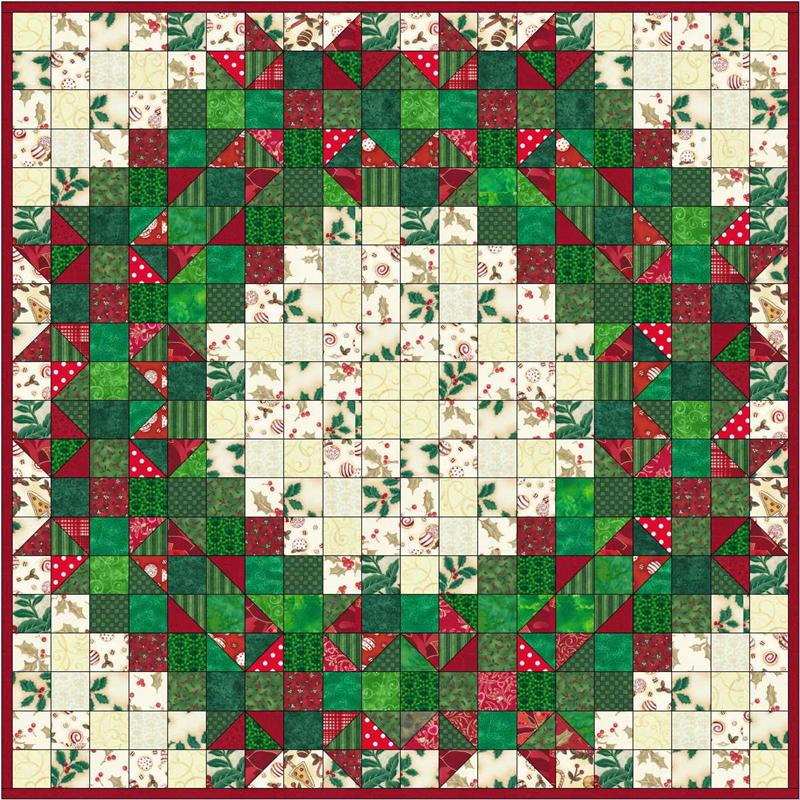 Quilt Pattern For Christmas Wreath : Welcome Wreath Quilt Pattern SP-114 (beginner, wall hanging)