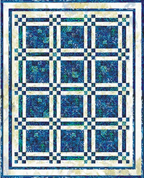 Around the Block Twin or Full Size Quilt Pattern TRQ-107 (beginner, twin)