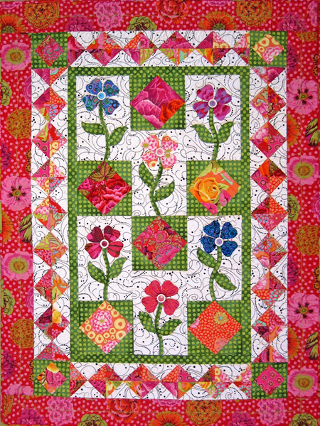 Quilt Patterns For Mother S Day : Flowers for My Mother Quilt Pattern SM-118 (Advanced Beginner, Wall Hanging)