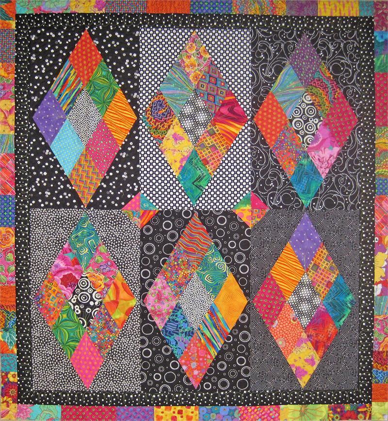 Diamonds Sparkle Quilt Pattern Sm 130 Advanced Beginner