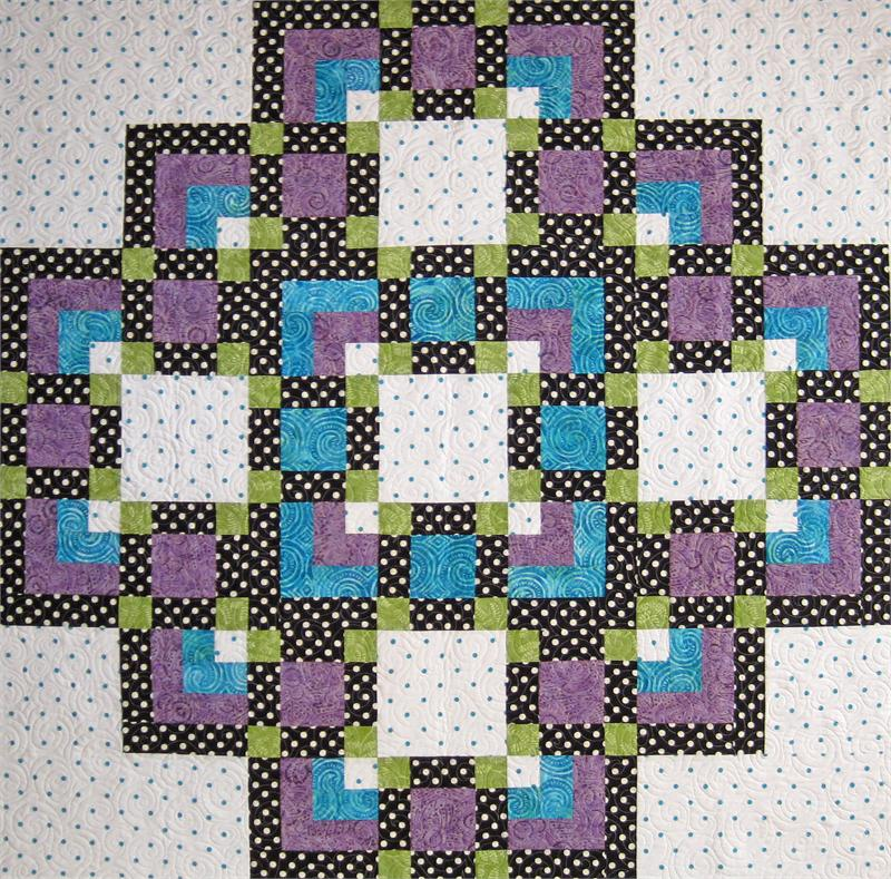 Intermediate Quilting Patterns : A Flair for Square Two Quilt Pattern SM-143 (intermediate, lap, throw)