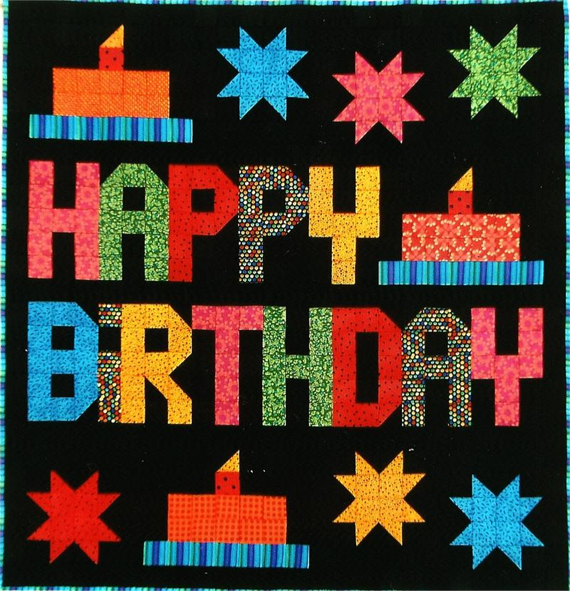 Happy Birthday Quilt Pattern SP-110 (beginner, Wall Hanging