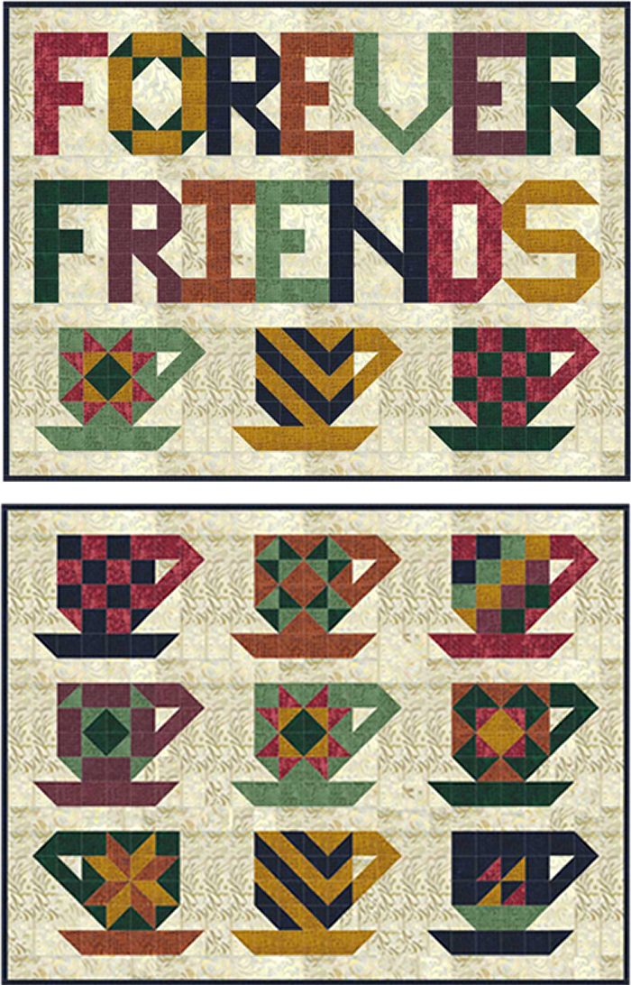 Cup Of Friendship Quilt Pattern Sp 209 Advanced Beginner