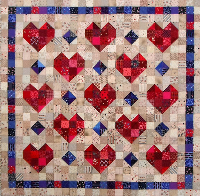 Quilt Patterns Heart Free : Heart Throb Quilt Pattern SP-211 (advanced beginner, wall hanging)