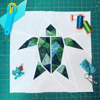 Turtle - Origami Animals Collection Block Pattern AC-007ENe