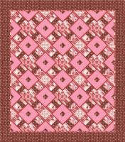 Chocolate Cherry Kiss Quilt Pattern AEQ-28