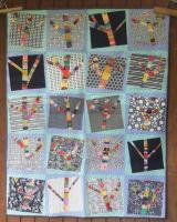 Yarn Bomb Trees Quilt Pattern AEQ-80