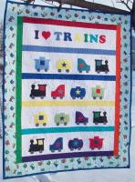 I Love Trains Wall Hanging Pattern AV-132