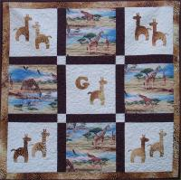 G is for Giraffe Quilt Pattern AV-137