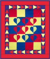 Primary Hearts Quilt Pattern AV-151