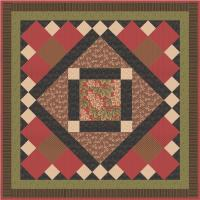 Stately Hollyhocks Quilt Pattern AV-159