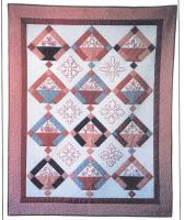Baskets of Redwork Quilt Pattern BAD-062