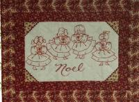 Redwork Noel By Candlelight Embroidery Quilt Pattern BAD-081