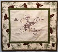 Welcome to My Cabin Embroidery Quilt Pattern BAD-206