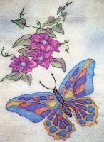 Butterfly Garden BOM - Block 2 Embroidery Pattern BCC-BG02