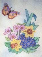 Butterfly Garden BOM - Block 12 Embroidery Pattern BCC-BG12