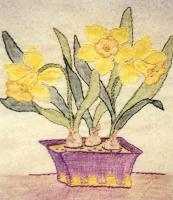 Grandma's Potted Treasures BOM - Block 10 Embroidery Pattern BCC-GPT10