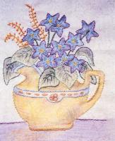 Grandma's Potted Treasures BOM - Block 4 Embroidery Pattern BCC-GPT4