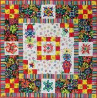 Ibiza Flowers Table Topper or Wall Hanging Quilt Pattern BS2-267