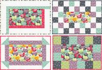 Four Easy Placemats Quilt Pattern BS2-309
