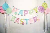 Happy Easter Garland with Egg Balloons Pattern BS2-335