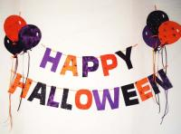 Happy Halloween Garland with Balloons Pattern BS2-336