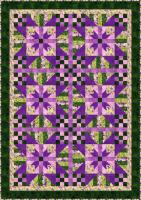 Lavender Blossoms Quilt Pattern BS2-360