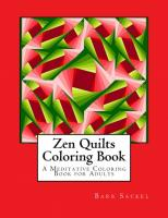 Zen Quilts Coloring Book BS2-903