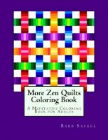 More Zen Quilts Coloring Book BS2-904