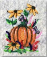 Peeking Pumpkin Mice Wool Needle Felting Pattern BS3-102